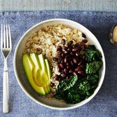 Add tahini to: Sweet potato, toasted chickpeas, and steamed or sautéed kale Soba noodles, steamed broccoli, grated carrots, and red cabbage Brown rice, steamed greens, hijiki, black beans, and sesame seeds Quinoa, raw marinated kale, and hemp seeds