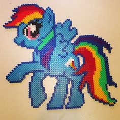 MLP Rainbow Dash hama perler beads by pagey163