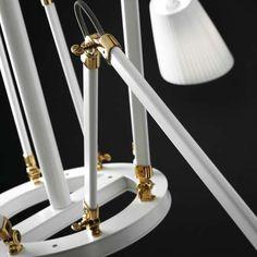 White / Polished Brass