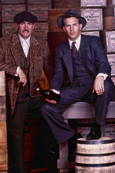 "Sean Connery as Jim Malone and Kevin Costner as Eliot Ness in ""The…"