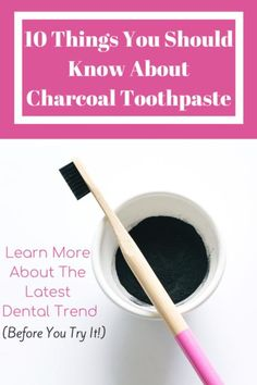 Have you heard of the latest charcoal toothbrushing trend? Learn more about the risks and benefits of charcoal toothpaste and toothbrushes to see if i. Brush Teeth With Charcoal, Charcoal Toothpaste, Charcoal Benefits, Toothpaste Recipe, Natural Lifestyle, Living A Healthy Life, Cosmetic Dentistry, Dental Health, Natural Living