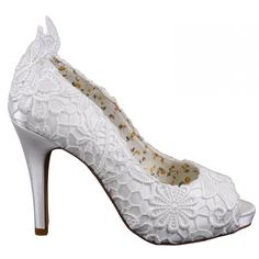 Polly by The Perfect Bridal Shoes http://www.bellissimabridalshoes.com/trends/lace-wedding-shoes/Polly-by-The-Perfect-Bridal-Shoes #theperfectbridalcompany #bellissimabridalshoes #weddingshoes