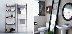 banheiro organizar decoração estante escada