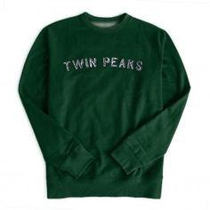 Twins Peaks Gazette Crewneck Pullover (Forest)