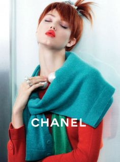 Wixson for Chanel...loving her red hair and short choppy bangs.