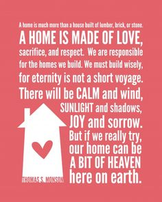 Home CAN be a heaven on earth. But boy...it is sure hard sometimes.
