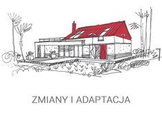 Eris II (wersja C) - projekt domu - Archipelag Cottage Style House Plans, Bungalow House Plans, Bungalow House Design, My Home Design, Home Design Plans, Modern House Design, 2 Storey House Design, Country Kitchen Designs, Brick Architecture