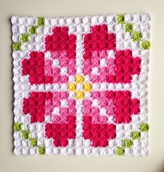 How to make a pixel crochet cushion- From Marrose. -