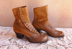 Victorian Brown Leather Side Button Knockabout Boots Co. Faerie Costume, Combat Boots, Brown Leather, Steampunk, Victorian, Buttons, Ebay, Shoes, Fashion