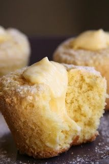 Homemade Coconut Lemon Twinkies in 12 muffin cups :Cooking Recipes Lemon Desserts, Lemon Recipes, Just Desserts, Sweet Recipes, Delicious Desserts, Cupcake Recipes, Cupcake Cakes, Dessert Recipes, Recipes Dinner