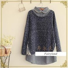 Buy 'Fairyland – Inset Gingham Shirt Knit Top' with Free International Shipping at YesStyle.com. Browse and shop for thousands of Asian fashion items from China and more!