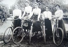 Seeking Inspiration -- Bicycles Change Lives of Victorian Women  http://wp.me/p3XHbp-F6  I became interested in collecting photos of Victorian cyclists and soon after developed an interest in learning more about the Women's Suffrage Movement. It surprised me when these topics intersected. @Gwen Tuinman #bicycles #suffrage