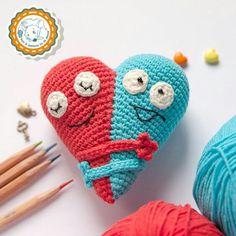 Crochet emojis pinteres pattern double heart crochet pattern amigurumi by dsmousebears ccuart Gallery