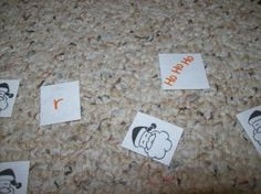 A Christmas game for practicing letters/sounds, math facts, sight words, etc.