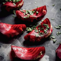 EASY Raw Beet Ravioli with Almond Thyme Pâté + Basil. Just 8 ingredients! {Vegan + Gluten Free}