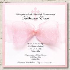 First Communion Invitations For Girls | first communion invitations