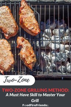 Two-zone grilling enables you to cook at different temperatures on the same grill, with direct radiant heat and indirect convection heat simultaneously. Or to have a safe zone away from flames if things get too hot and you need to calm down the grilling. Here's how you do it. Outdoor Grill Area, Outdoor Grilling, Grill Master, Grilled Meat, Grilling Recipes, Bbq, Radiant Heat, Cooking, Knowledge