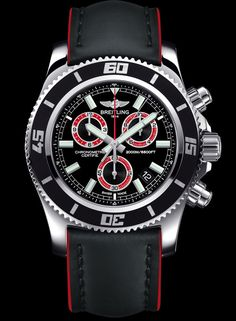 The Breitling Superocean Chronograph M2000 has a chronograph that ican be operated at a depth of 2,000 meters underwater. The watch is the first to feature a patented magnetic push-piece system, in which the chronograph controls are operated via the metal of the case. Along with the screw-locked crown and the 4-mm-thick sapphire crystal, these pushers enable the wearer to use the watch at the extreme depth of 2,000 meters (or 6,600 feet) without the risk of water seeping in.