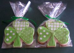 Decorated Shamrock Cookies