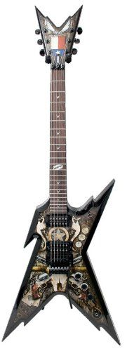 Dean Guitars Razorback Dimebag Floyd Lone Star with c Electric Guitar   	  	    	  	$ 374.95 Electric Guitars Product Features Basswood Body/Top 24 3/4 Scale Floyd Rose Special Bridge Lone Star Graphic Electric Guitars Product Description RAZORBACK 7 DB CLASSIC BLACK . Basswood Top/Body. 24-3/4″ Scale. Bolt-On Maple C Neck. Rosewood Fingerboard. Pearl Dime Razor Inlays. Grover Tuners. Black Hardware. DBD Traction Knobs. Floyd Rose Special Bridge. DMT Design […]  http://www.guit..
