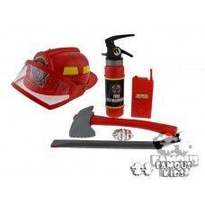 Micul pompier - casca, stingator si alte accesorii