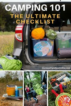 Camping 101: Storage bins strategically organized and packed can help to make a car camping experience a successful family outing.