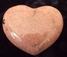 PUFFY RHODONITE HEART Reiki Stone Of Love by thecelestialmirror