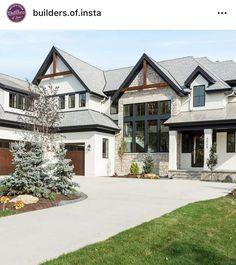 65 Stunning Modern Dream House Exterior Design Ideas - Traumhaus - Home Dream House Exterior, Dream House Plans, Dream Houses, House Ideas Exterior, House Exteriors, Home Styles Exterior, Nice Houses, Exterior Homes, Modern Home Exteriors