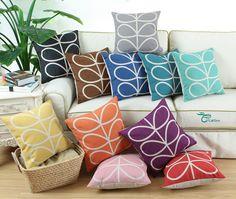 Hot Retro Geometric Stem Printed Cushion Covers Pillows Shell Sofa Home Car 45cm