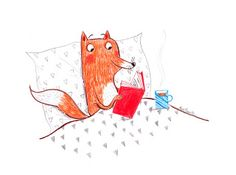 Fox's nighttime story... - by Alex T. Smith