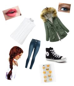 """school"" by crokerl ❤ liked on Polyvore featuring John Lewis, Converse and Ankit"