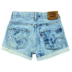 Levis Shorts High Waisted and Bleached All Sizes Xs S M L Xl Xxl ($42) ❤ liked on Polyvore featuring shorts, bottoms, silver, women's clothing, distressed denim shorts, high-waisted denim shorts, vintage high waisted shorts, short shorts and short jean shorts