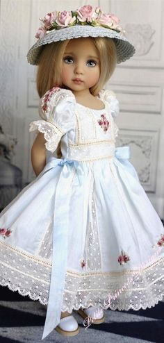 It would make a beautiful little girl's dress even though this is a doll dress.