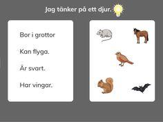 Gåtor om djur Learn Swedish, Swedish Language, Science And Nature, Games For Kids, Teacher, Education, Children, School, Creative