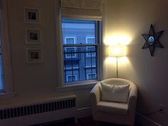 Newly redecorated corner in the bedroom