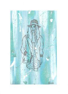 Light blue girl