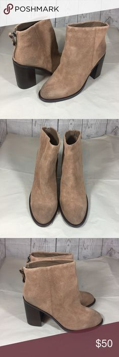 Kelsi dagger brooklyn Huronos boots 10m New kelsi dagger Brooklyn huronos boots suede leather taupe size 10m Kelsi Dagger Shoes Ankle Boots & Booties