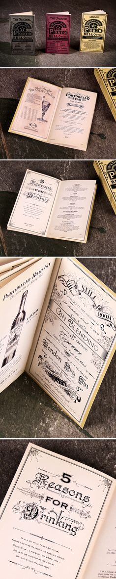 Love this vintage style... might be good for my gin menu!
