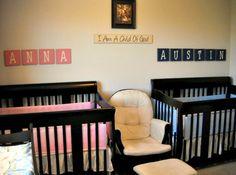 50 Ideias de quartos para bebês gêmeos