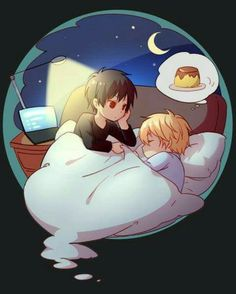 Shizuo & Izaya - sleeping time ~