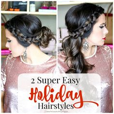 Holiday Hairstyle Ideas (Faux Braid & how to use Spin Pins)
