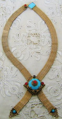 Vintage Demi Parure NECKLACE with EARRINGS Gold Tone Designer Costume Jewelry on Etsy $197.99 by pegi16