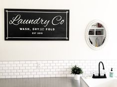 Laundry Co. wood sign//small medium large by 42ndCircleDesign