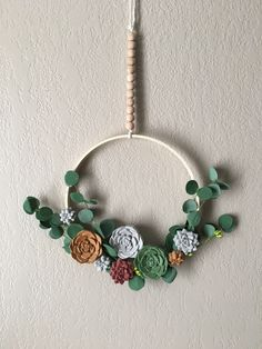 Different hues of cement succulents, CRETEATION version of the signature succulent wreaths with a twist Concrete Ring, Wood Circles, Succulent Wreath, Sponge Holder, Incense Holder, Leather Jewelry, Cement, Succulents, Etsy Seller