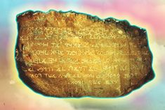 Los Lunas, New Mexico Mystery Stone, my father wrote about this. It's the Ten Commandments in ancient Hebrew I think, or a paleo type Hebrew.