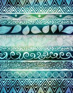 Abstract Tribal pattern illustration. Originally made using rapidograph pen on bristol vellum paper.