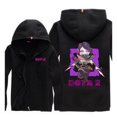 DOTA 2 plus size zip up hoodies for men Templar Assassin printed