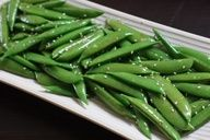 Cooking With Trader Joes -Sesame Toasted Sugar Snap Peas | All recipes with Trader Joes products for easy, quick, healthy meal ideas