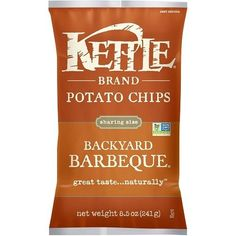 Kettle Brand Potato Chips Backyard Barbeque (12x8.5 OZ)