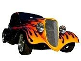 hotrod :  flalmed hot rod